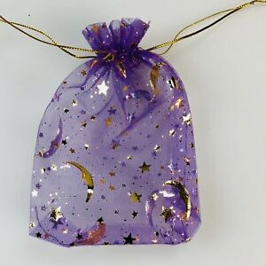 50 100 Moon Star Organza Gift Bags Wedding Favor Jewelry Drawstring Pouches