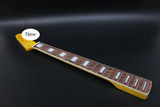 More details for new guitar neck 21fret 25.5inch maple rosewood fretboard block inlay yellow