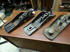 ANTIQUE  VERY EARLY STANLEY BLOCK PLANE BODIES AND PARTS
