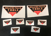 vintage millers falls tools Restoration Stickers Lot  Five Reproduction sticker