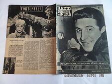 RADIO TELEVISION CINEMA N°464 07/12/1958 GILBERT BECAUD CROQUEMITOUFLE     G86