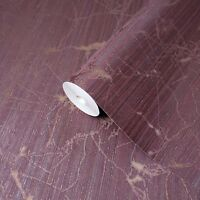 Wallpaper burgundy gold rust metallic Textured Plain Modern wall coverings rolls