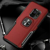Leather Texture Stand Case For Samsung Galaxy S9 S8 S10 Plus Note 10 9 Ring New