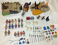 Playmobil Castle Knights Horses-Huge Medieval Lot 100+ Pieces Loaded GLOBAL Ship