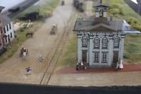 Lincoln Train Station Gettysburg -  N Scale 1:160 Hollow - 2pc EASY to Assemble