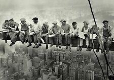 LUNCH ON A SKYSCRAPER 1932 A4 CANVAS PRINT
