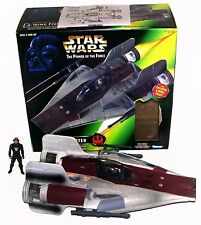 STAR WARS POWER OF THE FORCE A-WING FIGHTER W/PIVOTING LASER CANNONS 1997 KENNER