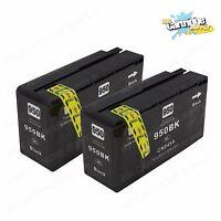 2PK 950XL Black High Yield Ink For HP OfficeJet Pro 8100 8600 8630 8625 8615
