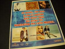 CHRISTINA AGUILERA Rocio Durcal JERRY RIVERA others 2001 PROMO POSTER AD