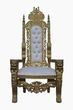 Gold and white king throne for sale