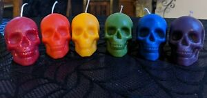 Skull Candles Pagan Wiccan Beckwitch Spells Palm or Mini Tea Light Sized Goth