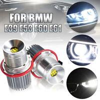 90W Error Free Angel Eyes Halo 9 LED Light Bulb For BMW E39 E63 E65 E53 X5 E83