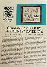 Scarlet Letter 1993 German Sampler By Aedegnes Dated 1746 Pattern Chart