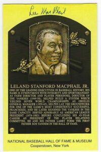 Lee MacPhail Autographed Signed Hall Of Fame Postcard  w/JSA COA MLB NY Yankees