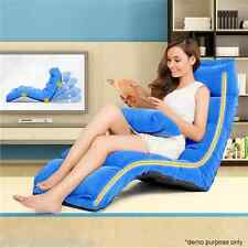 Multi-Functional Blue Adjustable Sofa Bed & Matching Pillow