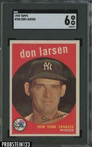 1959 Topps #205 Don Larsen New York Yankees SGC 6 EX-NM