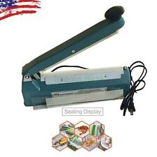 "8"" Hand Sealer Impulse Heat Manual Seal Machine Plastic Poly Bag Closer Kit"