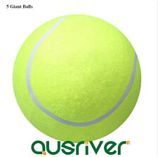"5x 24cm/9.5"" Large Giant Tennis Ball Kids Pets Toys  Signature"