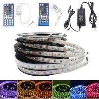 12V/24V 5M 5050 RGBW 4-in-1 Chip RGBW RGB+White LED Strip Lights+IR Remote+Power