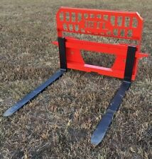 "MTL Attachments 48"" adjustable 5k lb Pallet Forks- Twin side step $139 ship"