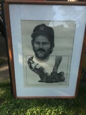 New York NY Yankees MLB Sketch Thurman Munson Terry Amsden Rare Large