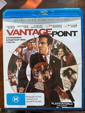Vantage Point Blu-ray 2008 Assassination Conspiracy Thriller Australian Release