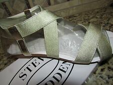 NEW STEVE MADDEN QUINTAA GOLD SANDALS WOMENS 7.5 FLATS GLADIATOR STYLE FREE SHIP
