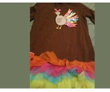 Turkey Girls Shirt W/ Ruffles Ribbons Bows Thanksgiving