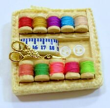 Dollhouse Miniature Filled Sewing Kit