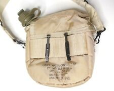 2 QT Collapsible Water Canteen W/ Cover & Sling Desert Tan US Army Military