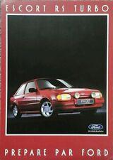 Ford Escort RS Turbo folleto de ventas de mercado francés-septiembre de 1986.