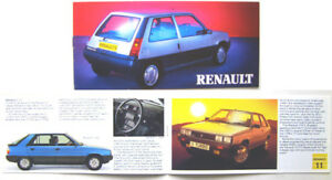 Renault Range 4 5 9 11 18 Fuego 25 Trafic Master 1985 Original UK Sales Brochure