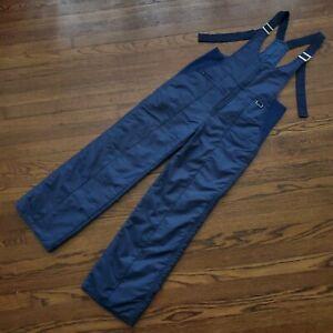 Inter Syn Ski Bib Mens S Navy Blue Snow Pants Winter Sports Vintage Adjustable