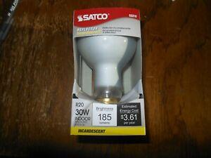 4 New Satco Reflector Light Bulbs R20 Model S3210 30W 120V Standard Base E26