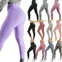Women Fitness High Waisted Workout Athletic Gym Yoga Pant Push Up Sport Leggings