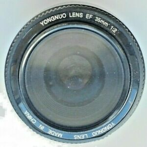 Yongnuo 35mm F2 Canon EF lens Excellent Condition with 52mm filter+Original caps