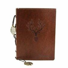 Leder Notizbuch Din A5,Vintage Blanko Tagebuch Reisetagebuch Nachfüllbar Journal