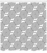 Swirls Patter 00006000 n Shower Curtain Fabric Decor Set with Hooks 4 Sizes