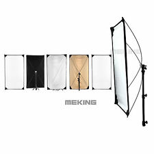 "5-in-1 Light Control Square Reflector Flat Panel Kit w/ Fabric 40x71"" 100x180cm"