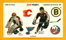 Ray Bourque 1989 Kraft Sticker Mike Vernon 4 of 6 NHL Hockey Mail Away Offer