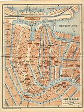 Antique map plattegrond carte Amsterdam Holland 1905 #2