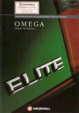 Vauxhall Omega Elite 1994-95 UK Market Brochure 3.0i V6 24v 2.5 TD Saloon Estate