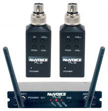NEW Vocopro Nuvoice PL2  Dual Plug On Wireless Transmitter System MAKE OFFER!!