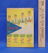 Jello Recipe Booklet 1930 Promo Quick Easy Wonder dishes Jello Salad Rare