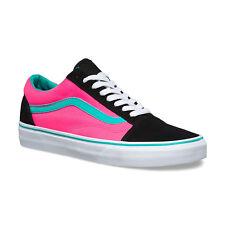 Vans OLD SKOOL BRITE BLACK NEON PINK VN0004OJJSU Men's Skate Shoes Size SZ 13 US