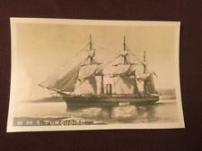 ANTIQUE POSTCARD HMS TURQUOISE 1873 - 1892 ROYAL NAVY CORVETTE - LOT 60