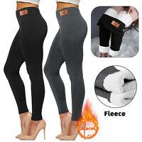 Women Winter Warm Fleece Velvet Pants Lined Thermal Thick Slim Leggings Pants US