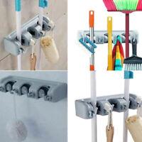 Kitchen Wall Mounted Mop Rack Brush Broom Holder Hanger Organizer Tool for Home
