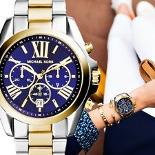 Original Michael Kors Watch Women's MK5976 Bradshaw Bicolour Colour: Silver/Gold