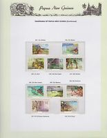 1973-1974 PNG PAPUA NEW GUINEA Panorama  continued STAMP SET K-432
